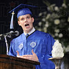 Message to the Graduates: Robert Tichy, Class of 2009 addresses the class during Saturday's ceremony.