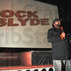 Tribune-Star/Joseph C. Garza<br /> ÒThe Indian from IndianaÓ: Rock Slyde producer Milan Chakraborty thanks friends and family for attending the premiere of his movie, Rock Slyde, Saturday at the Indiana Theater.