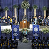 Commencement: United States Representative Brad Ellsworth speaks to the 2009 graduating class during Winter Commencement Saturday afternoon.