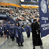 Processional: Students of the College of Arts and Sciences start the walk to their seats as the processional begins Saturday afternoon at Hulman Center.