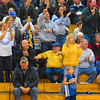 Tribune-Star/Joseph C. Garza<br /> Golden fans: Sullivan fans come to their feet to applaud after they witnessed the Golden Arrows' Rhett Smith dunk the ball Saturday at Terre Haute North.