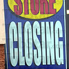 Detail: Store closing sign.