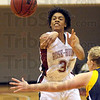 Push it: Rose-Hulman's #35, Donna Marsh passes the ball to an open teammate during first half action against Franklin.