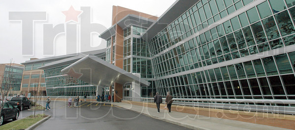 Tribune-Star file photo/Bob Poynter<br /> Main entrance: Union Hospital opened its doors to the general public Sunday, Dec. 13.