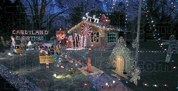 Colorful: The Candyland Christmas display is one of several in Deming Park for the annual event.