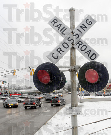 Crossed off: The railroad crossings at 7th and Margaret streets with be removed during 2010.