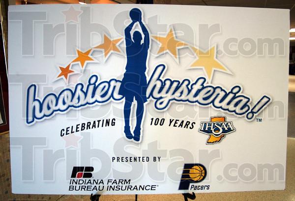 Detail: Hoosier Hysteria signage.