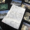Letter from the front: A letter from John Plasse to his daughtr Dylaney is surrounded by photographs from Afghanistan. Plasse wrote a personal letter to each student in Janet Greulach's 4th grade class at Lost Creek Elementary School, Including the above letter to his daughter.