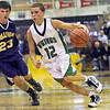 Point: West Vigo's #12, Jordan Houser blows past his defender David Bedwell of Sullivan during the semi-final game of the Wabash Valley Pizza Hut Classic Tuesday night.