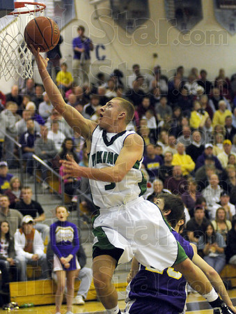 Glide: West Vigo's #5, Tyler Wampler drives for a score during game action Tuesday night against Sullivan.