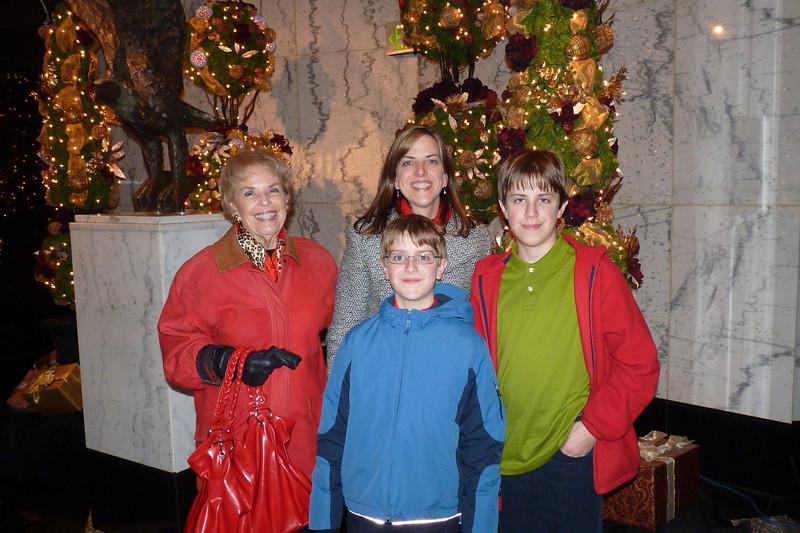 Nonna, Elizabeth and the boys, Hearst Tower Lobby