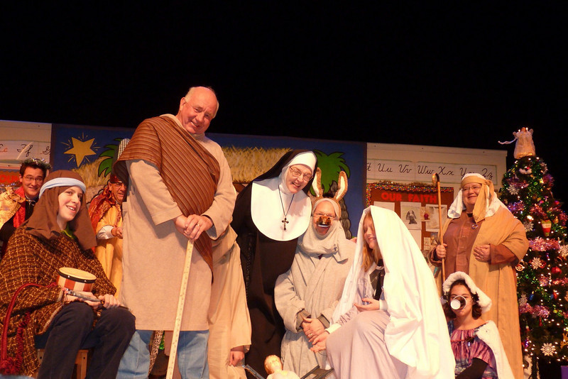 "Sister's pageant cast at ""Sister's Christmas Catechism"""