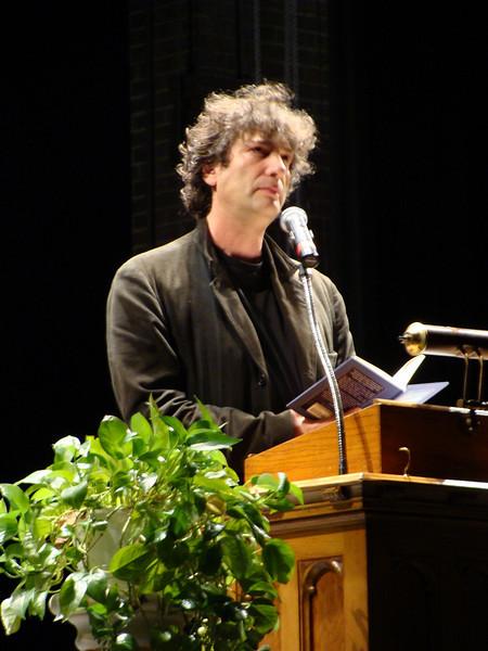 Neil Gaiman at Presser Hall, Agnes Scott