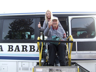 Thank you Santa Barbara Airbus for donating the luxurious roundtrip transportation to Disneyland!