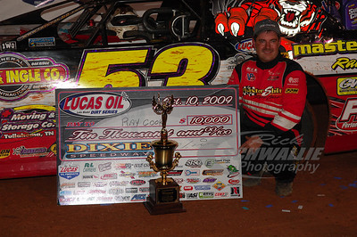 Ray Cook in Victory Lane @ Dixie Speedway