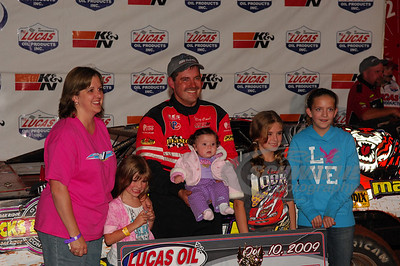 Ray Cook and family in Victory Lane @ Dixie Speedway