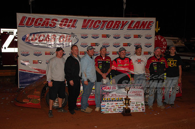 Ray Cook and Crew in Victory Lane @ Dixie Speedway