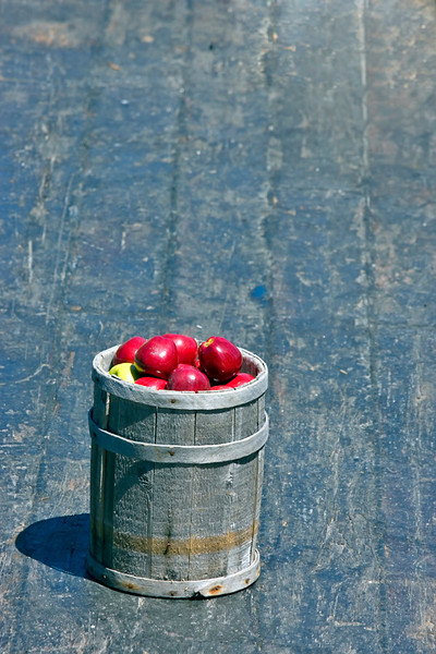Apple Barrel on Captain Adams Gundalow flat bottom barge