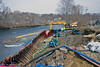 Cofferdam on the Cocheco River for new bridge