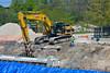 Excavator at bridge site