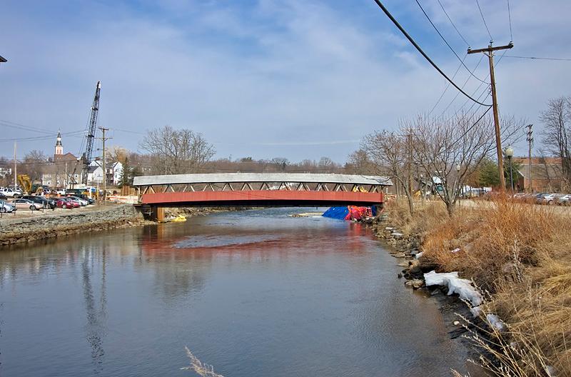 Covered Bridge crossing the Cocheco River
