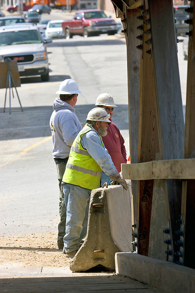 Construction Workers at new bridge site