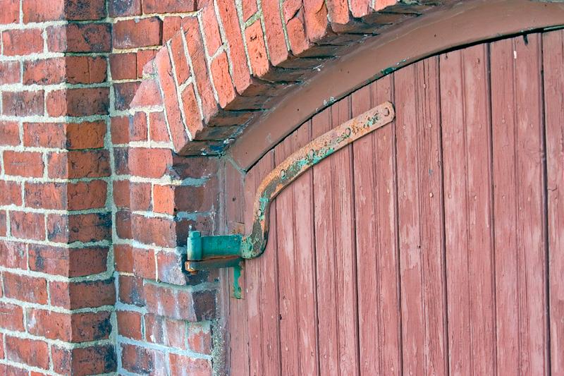 Door Hinge on door of Mill Building