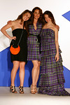 """Sarah Margaret Qualley, actress Andie MacDowell and Rainey Qualley attend """"Dressed To Kilt"""" Charity Fashion Show benefiting Friends Of Scotland on Monday, March 30, 2009 at M2 Ultra Lounge, 530 West 28th Street, New York City, NY (Photo Credit: Lloyd Bishop)"""