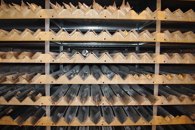 The core buffer.<br /> <br /> Iskernelageret.<br /> Photo: Sune Olander Rasmussen