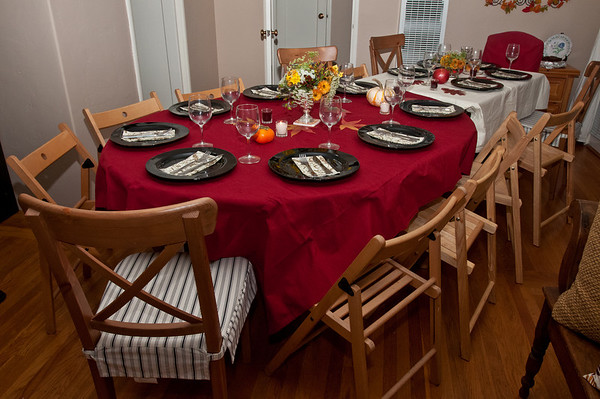 The beautiful dinner table that Alexis setup