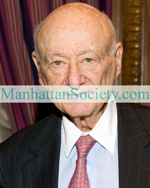 NEW YORK-NOVEMBER 18: Ed Koch attends Celebration of Former New York City Mayor Edward I. Koch's 85th Birthday & 20th Anniversary with BRYAN CAVE LLP on Wednesday, November 18, 2009 at the St. Regis Hotel, 2 East 55th Street at Fifth Avenue, New York City, NY.  (Photo Credit: ©Manhattan Society.com 2009 by Gregory Partanio)