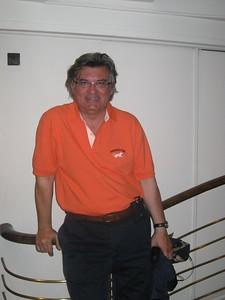 Tarek wearing his Princeton Orange PROUDLY - Kimberly Collins