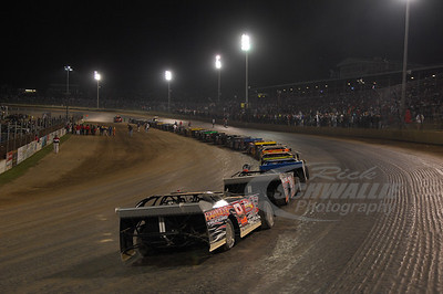 Starting grid for the 2009 World 100 @ Eldora Speedway