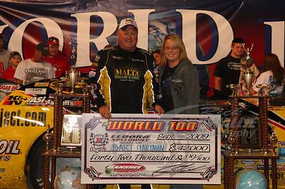 Bart Hartman in Victory Lane @ Eldora Speedway with Keya Davis