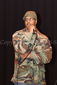 The group Nomadic Thoughts, consisting of rappers Underground and Spoken, perform at the Family Partnership Center in Poughkeepsie on February 21, 2009 as part of the Black History Day celebration.