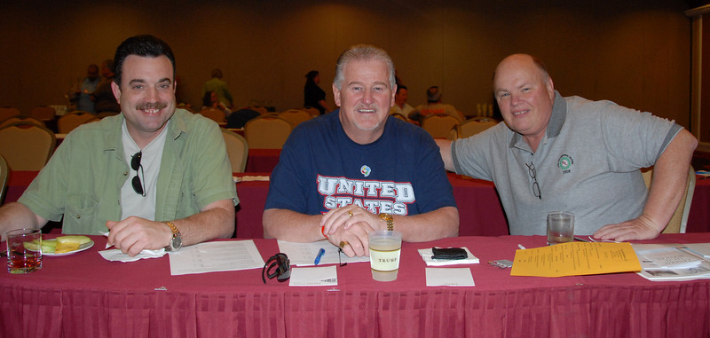 From left to right, Chief Steward Harry DeLaBastide, Business Agent Marty Shannon, Chief Steward William Gross