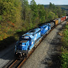 Ten years after a pair of Conrail SD40-2s take an NS local westbound on the Southern Tier at Chemung.