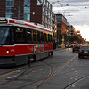 A Toronto Transit Commission's CLRV crosses  Bathurst Street.