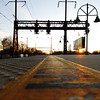 The Rahway station platform at Sunset on November 22, 2009.