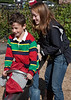 Joey and Isabel on the seesaw