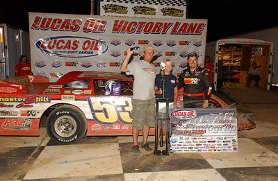 Ray Cook in Victory Lane @ Fayetteville Motor Speedway