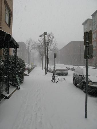 Februar Schneefall
