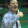 "Good job: West Vigo coach Joe Boehler gives the ""thumbs up"" to his players as the game winds down against Sullivan Thursday night."