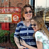 Happy with conditions: Leah Myers and her daughter Beth are opposed to the possibility of Chauncey Rose Middle School closing.