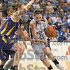 Coming in: Kelsie Cooley drives the lane against a Panther defender in their game in Hulman Center Friday night.