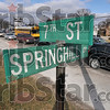 Tribune-Star/Joseph C. Garza<br /> Road stimulus target: Because of sheer traffic volume, the intersection at 7th Street and Springhill Drive will be rebuilt with opposing left turn lanes with longer approaches allowing more storage for vehicles turning.