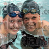 State finalists: Katie Guell (L) and Emily Richards with represent Terre Haute North in the state swimming finals.