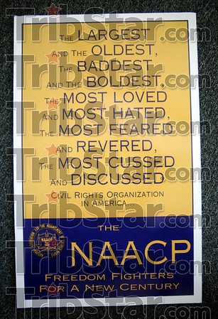 Detail: Poster in the NAACP headquarters located at 618 Wabash Ave.
