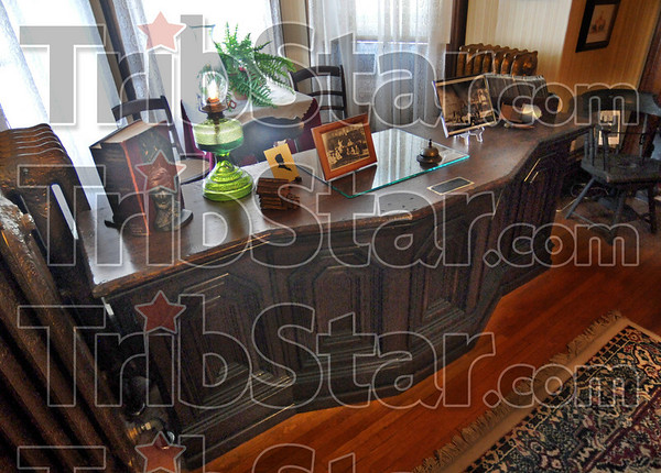 Lincoln desk: The Edgar Co. Historical Society houses a desk that is believed to have been used by Abraham Lincoln when he visited the Edgar Co. Courthouse.