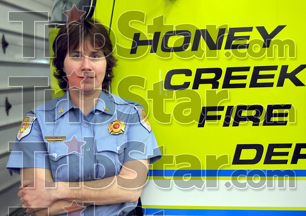 New rating: Honey Creek fire chief Jean Frankel announced the new insurance rating for the Honey Creek fire district.